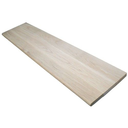 48 In X 11 1 2 In Unfinished Pine Stair Tread 8503e 048 Hd00l Pine Stair Treads Hardwood Stairs Red Oak