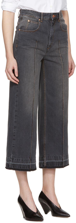 Grey Cabrio Wide-Leg Jeans e5b5d00efe8