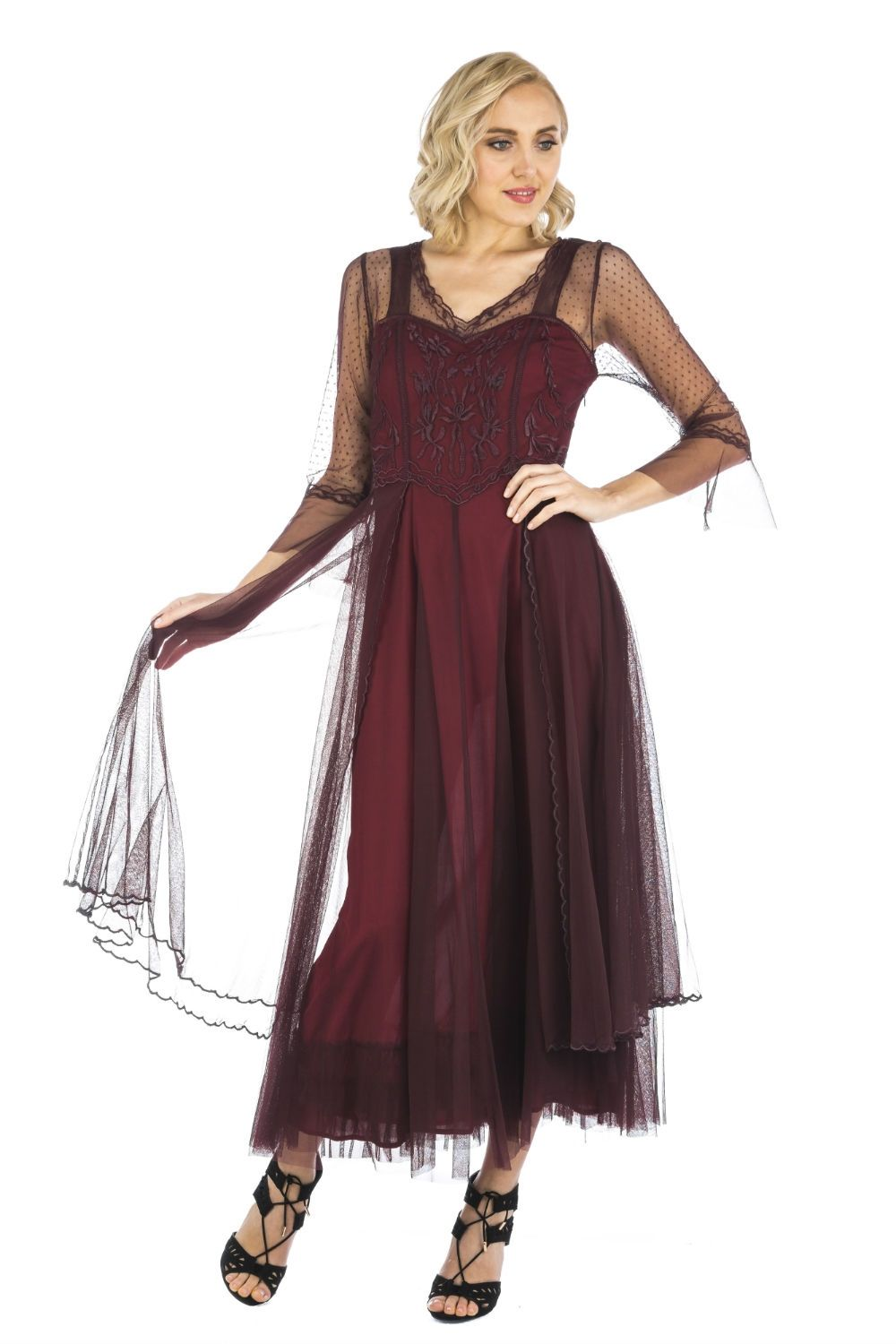 Nataya vintage inspired dress cl ruby in mother of bride