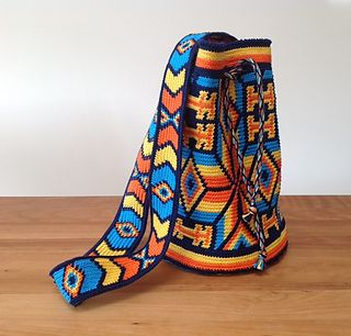 Mochila Bag Pattern By Marion Verloop Tapestry Pinterest