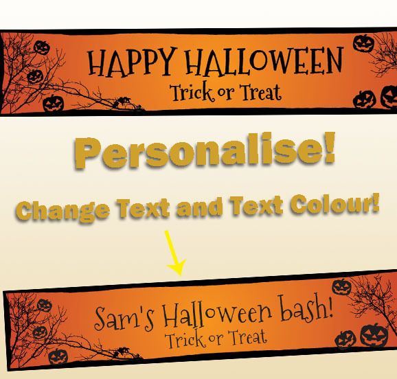 Halloween Party Supplies Decorations Scary Jack O lantern Banner - halloween party decorations cheap