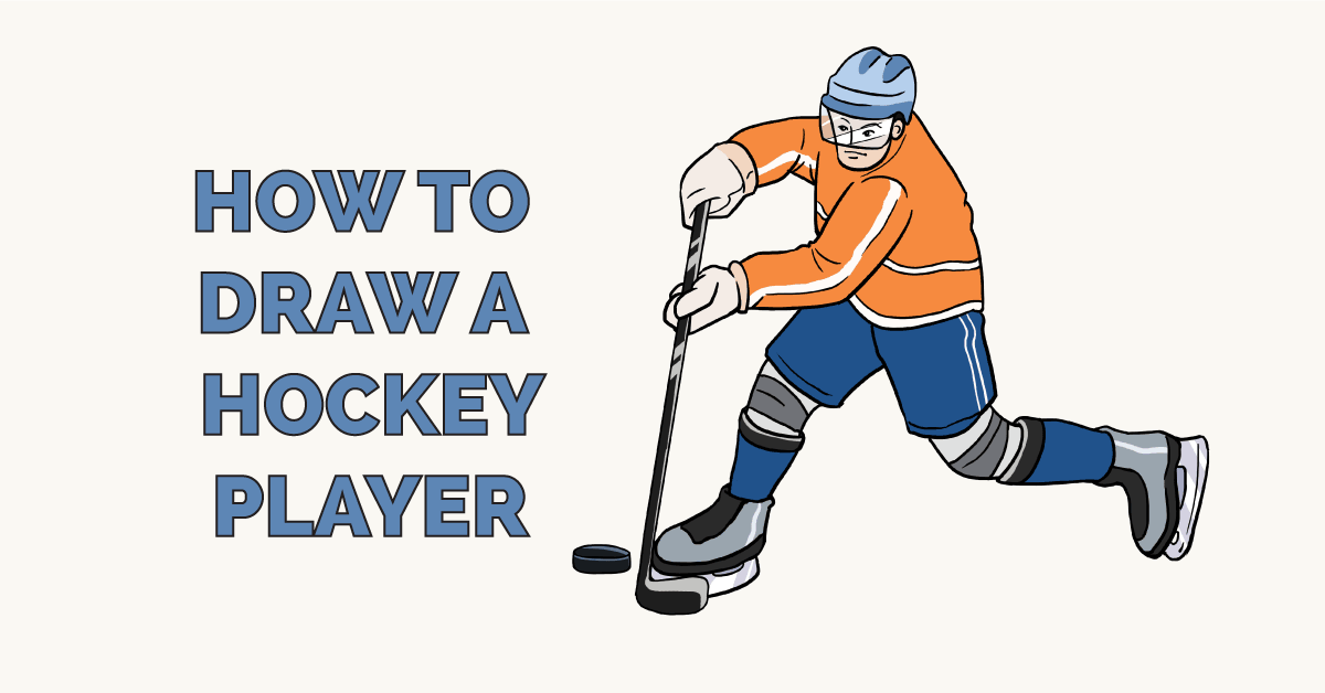 How To Draw A Hockey Player Really Easy Drawing Tutorial Easy Drawings Guided Drawing Drawing Tutorial Easy