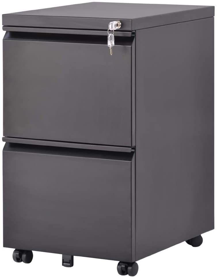 2 Drawer Black Metal File Cabinet 2021 Mobile File Cabinet Metal Filing Cabinet Filing Cabinet