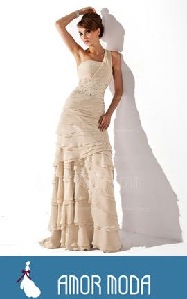 Mother of the Bride Dress With Beading Cascading Ruffles  at an affordable price of $207.99 #MotheroftheBrideDress