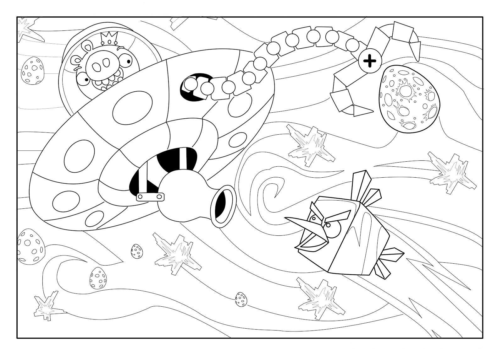 imagenes gratis para colorear de los angry birds space | Dibujos ...