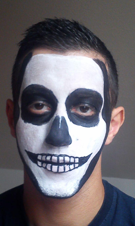 die besten 25 skelett schminken kind ideen auf pinterest einfaches skelett make up halloween. Black Bedroom Furniture Sets. Home Design Ideas