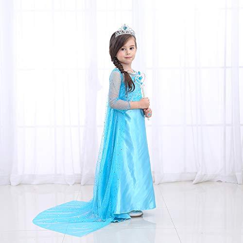 Disfraz de Princesa Elsa Frozen Vestido Infantil