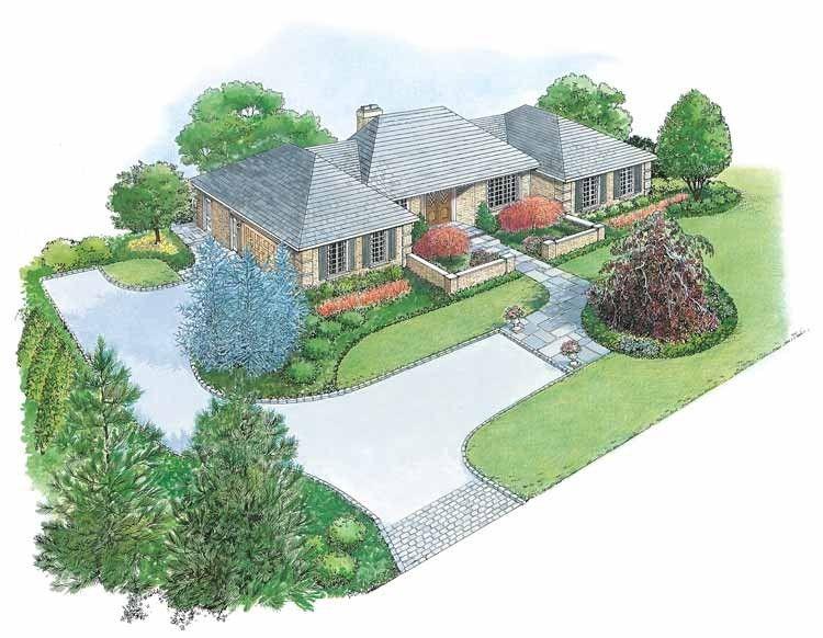 European Style House Plan - 0 Beds 0 Baths 0 Sq/Ft Plan #1040-18