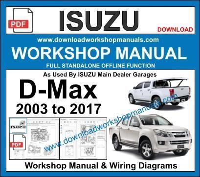 Isuzu D-Max 2003 to 2017 Workshop Repair Manual and wiring ...