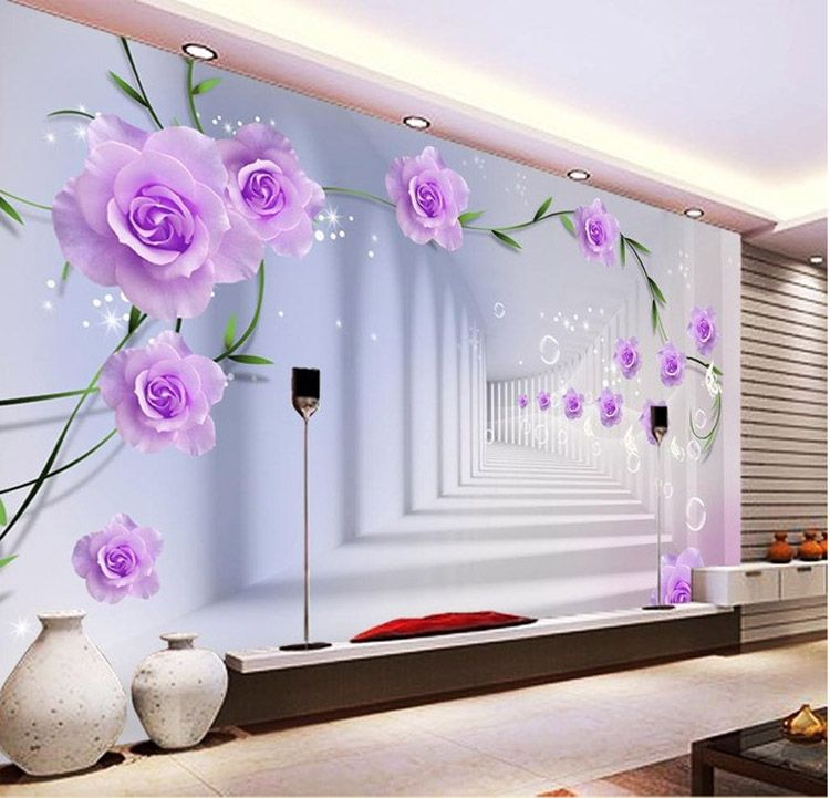 wallpaper wall designs. wall murals purple flowers wallpaper kids bedroom interior design changing  modern with spectacular