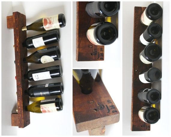 He encontrado este interesante anuncio de Etsy en https://www.etsy.com/es/listing/110804139/personalized-wine-rack-rustic-wood-wall