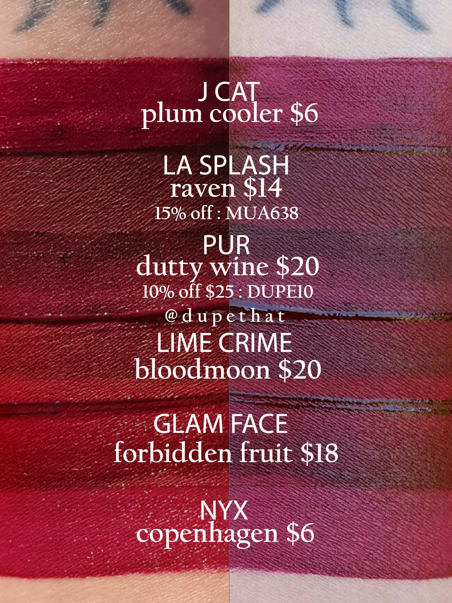 Lime Crime Bloodmoon Dupes Dupethat Lipstick Dupes Liquid Lipstick Dupes Everlasting Liquid Lipstick
