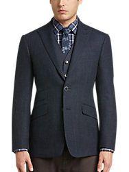 83c58924 Joseph Abboud Blue Postman Slim Fit Blazer - Men's Blazers | Men's Wearhouse