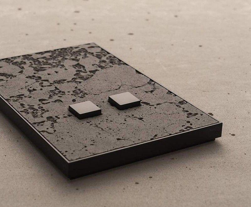 lichtschalter in beton optik modern und stilvoll. Black Bedroom Furniture Sets. Home Design Ideas
