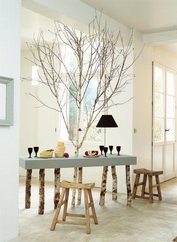 Une Table En Bois De Bouleau Decor Ideas