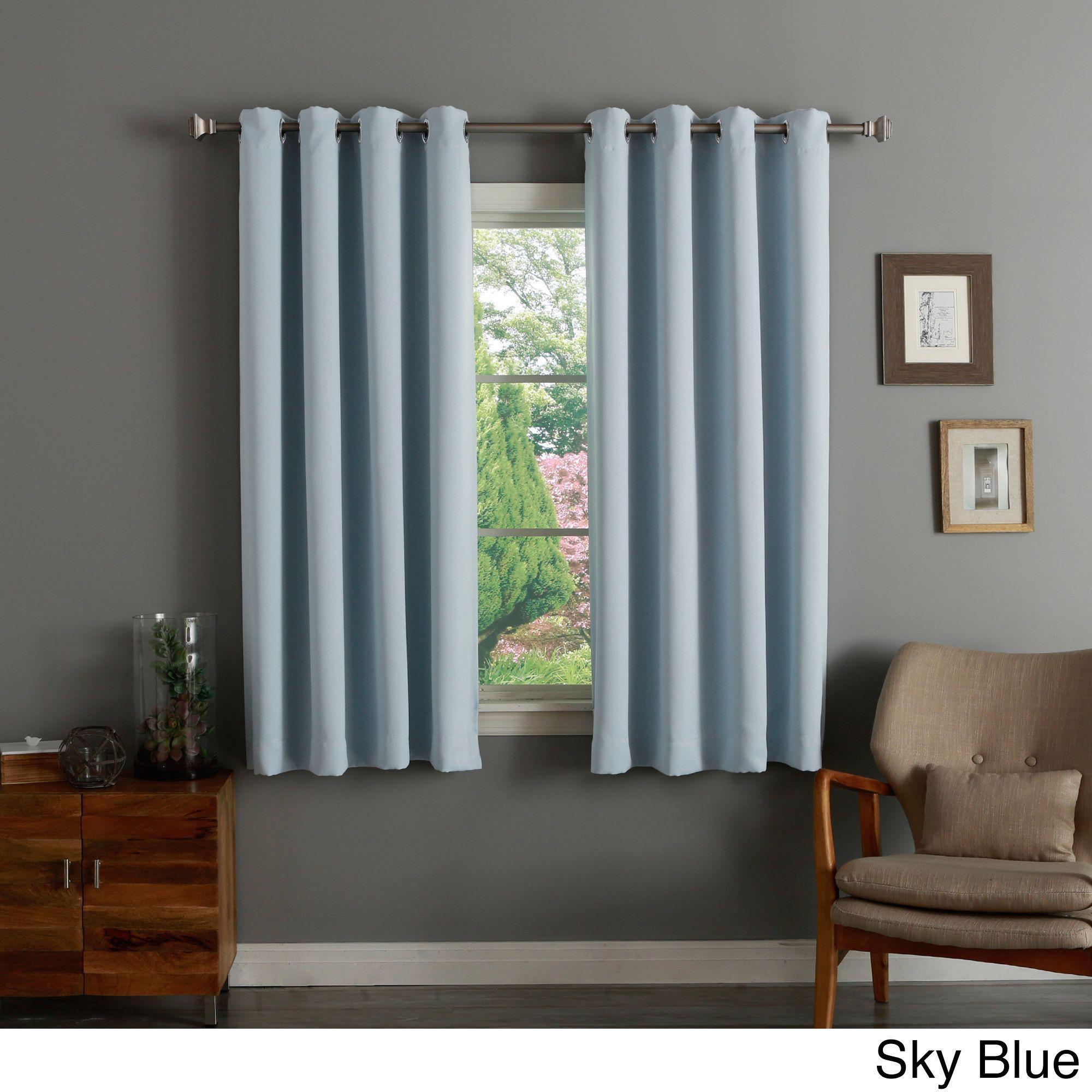 2 Panel Polyester Window Curtain 35 X 63 Inch Window Blinds Modern