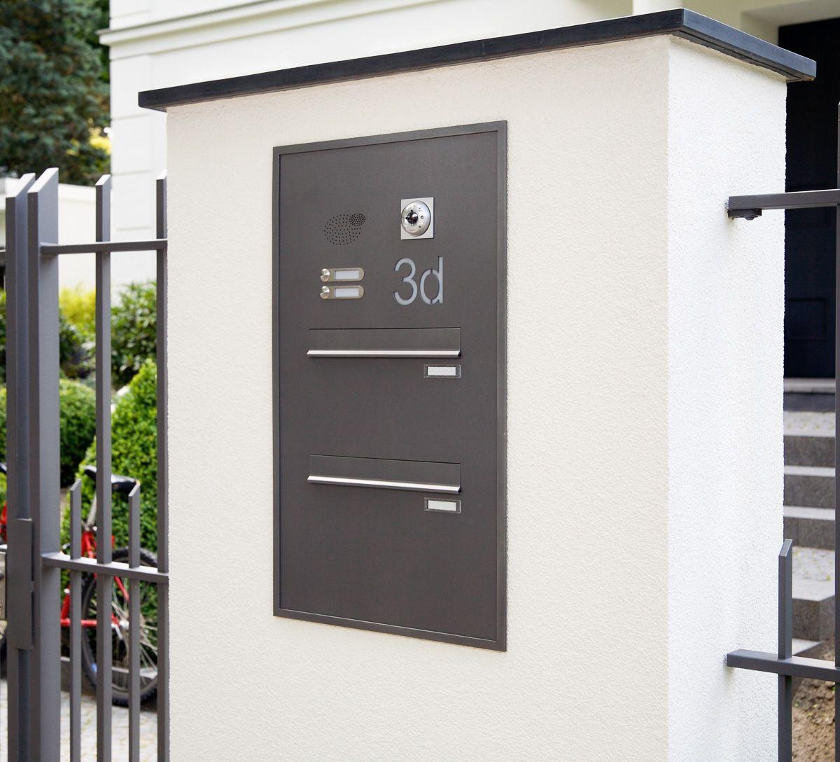 Briefkasten Mauerdurchwurf Briefkastenanlage für Doppelhaus ...