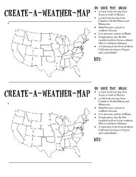 create a weather map water cycle and weather weather science teaching weather sixth grade. Black Bedroom Furniture Sets. Home Design Ideas