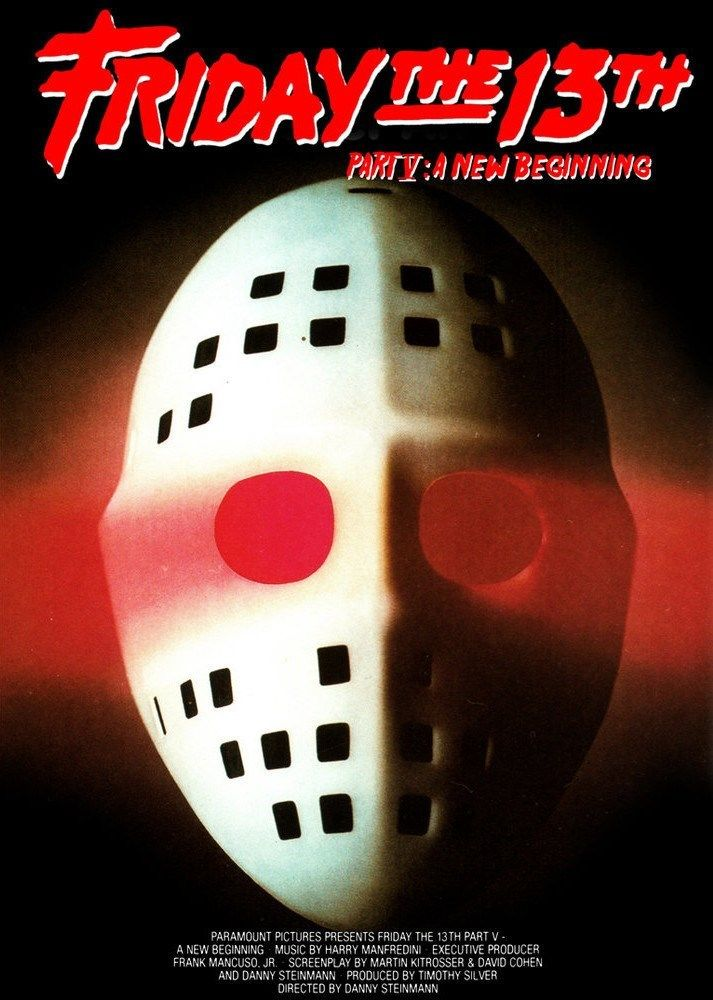 HORROR MOVIE POSTER Friday the 13th Part 5