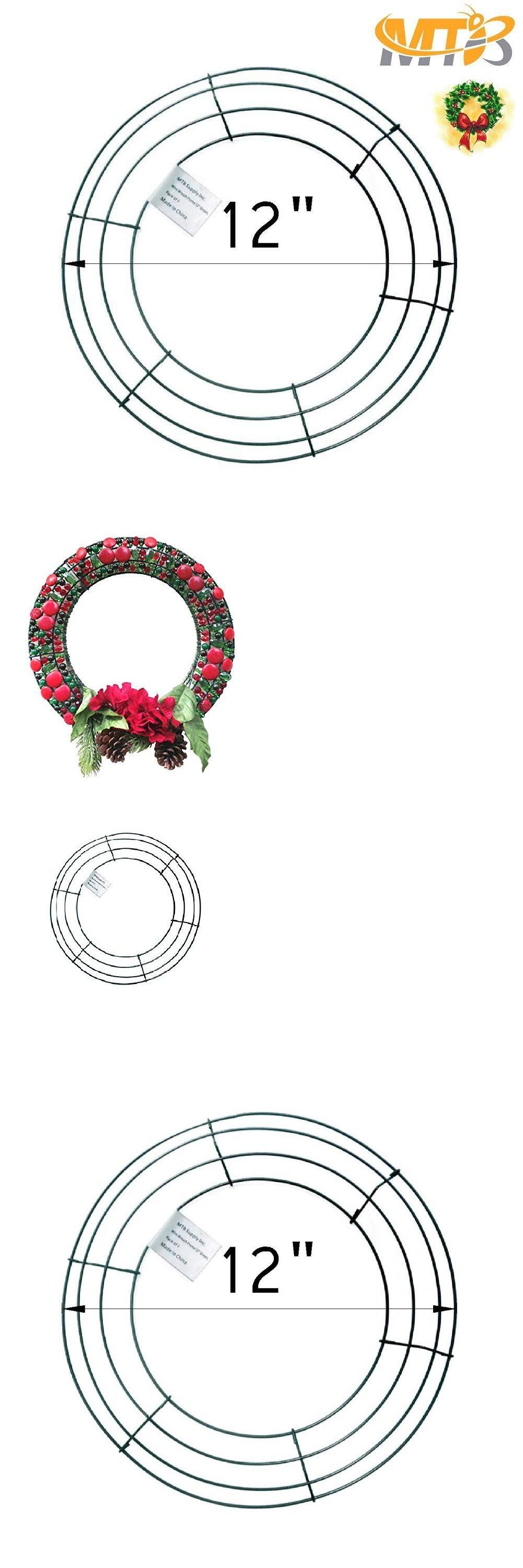 Floral Forms Bases And Frames 16498 Mtb Wire Wreath Frame 12 Inch Green Pack Of 1 Pack Of 5 Pack Of 10 Buy It Now Only Wire Wreath Frame Frame Wreaths