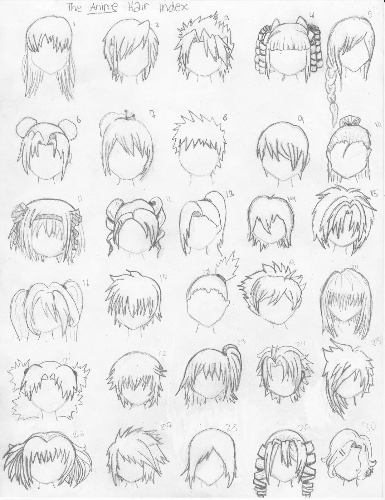 Familiar Faces... Nonfaces. How to draw anime hair