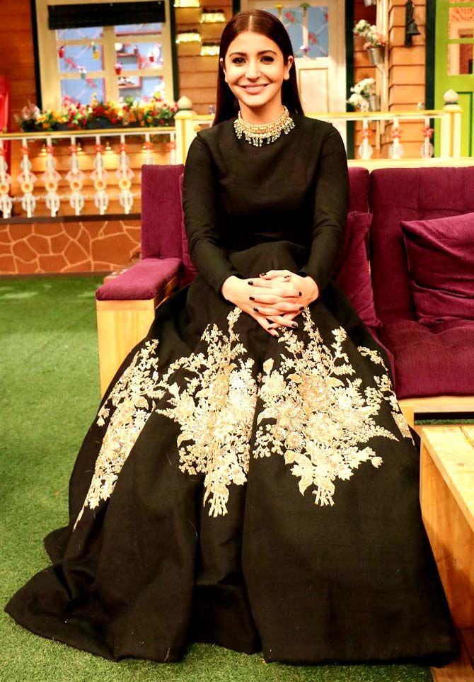 c8803d5960d6a Anushka Sharma on the sets of 'The Kapil Sharma Show'. #Bollywood #Fashion  #Style #Beauty #Hot #Sexy