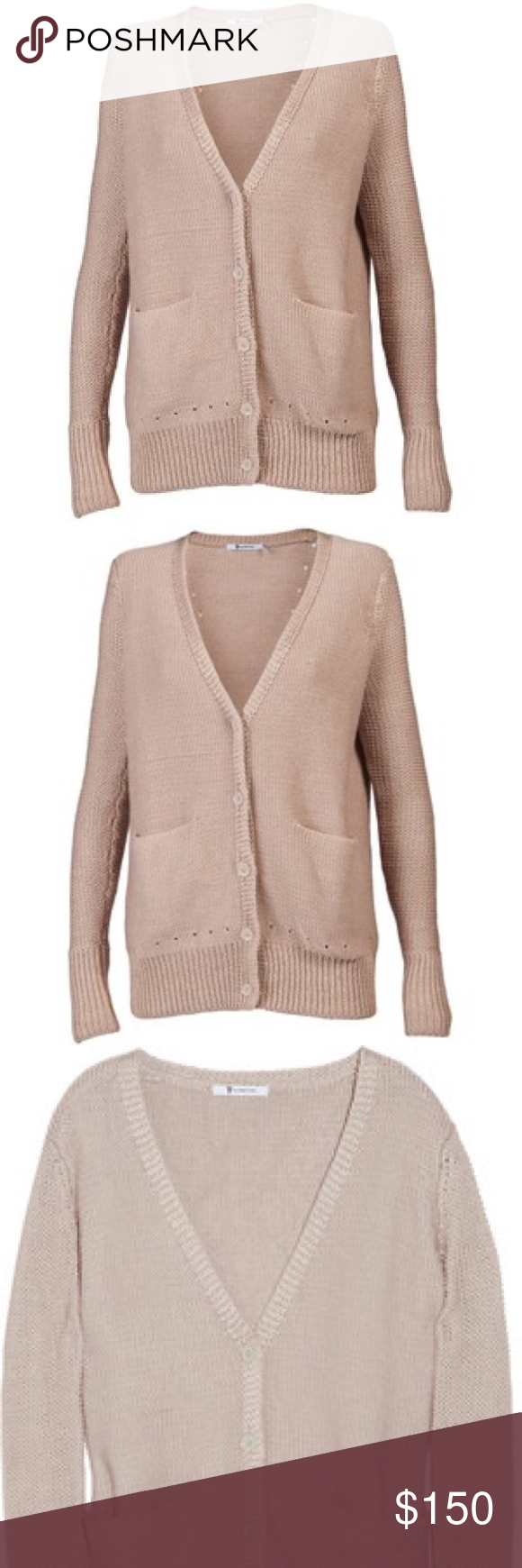 T by Alexander Wang Cotton Knit Cardigan Sweater