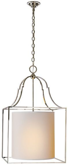 New Product Gustavian Lantern By Visual Comfort Amp Co Shown In Polished Nickel With Natural