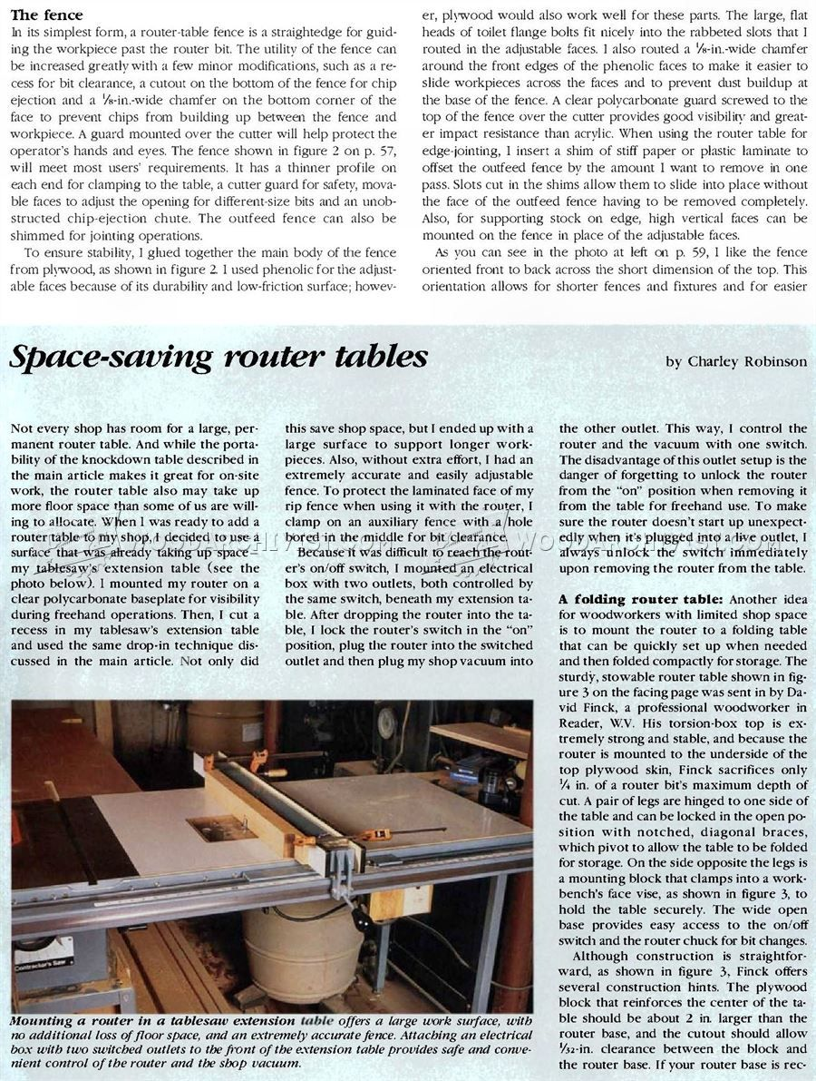 #1722 Building Router Table - Router