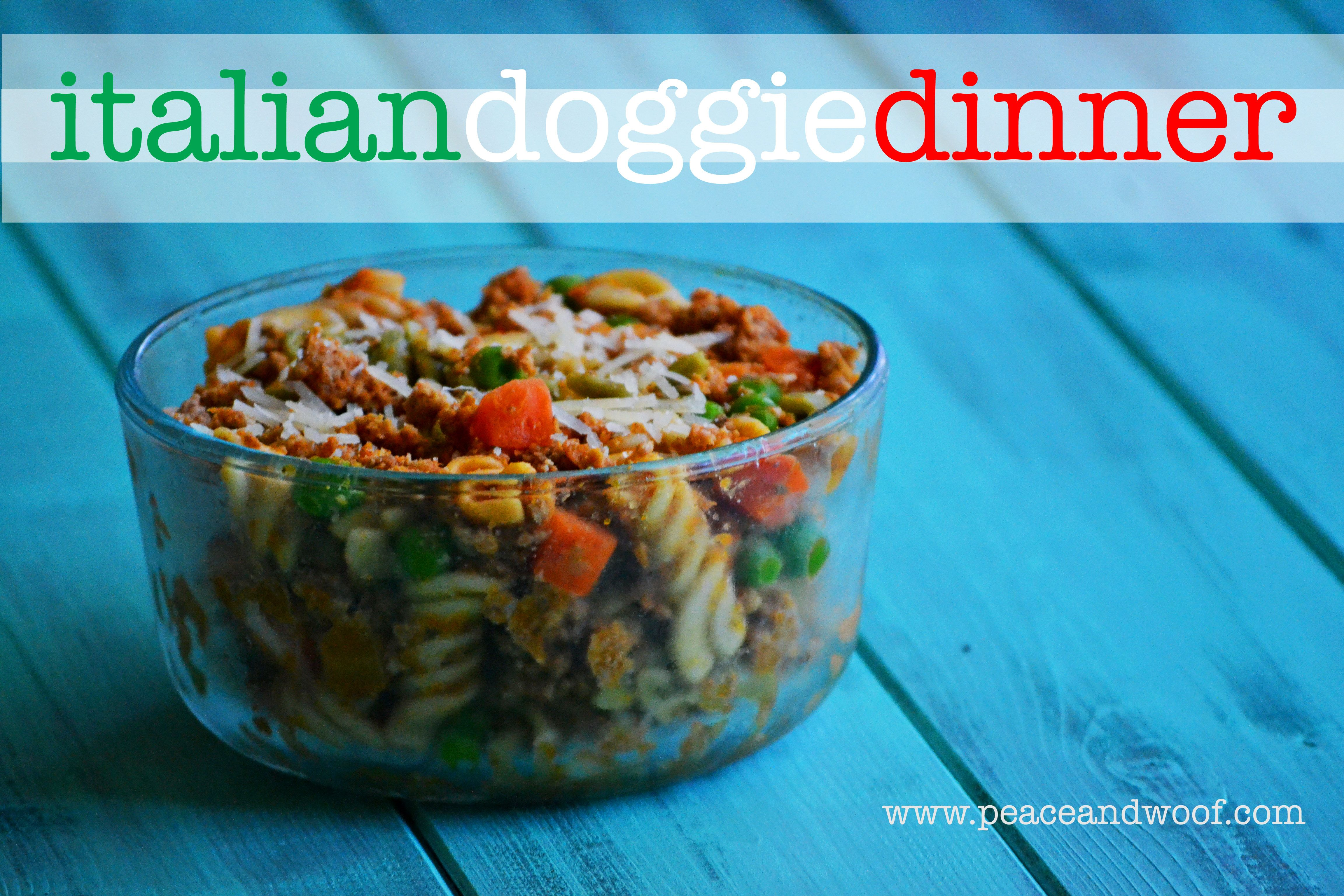 Easy dog food recipe italian doggie dinner peacewoof recipes easy dog food recipe italian doggie dinner forumfinder Image collections