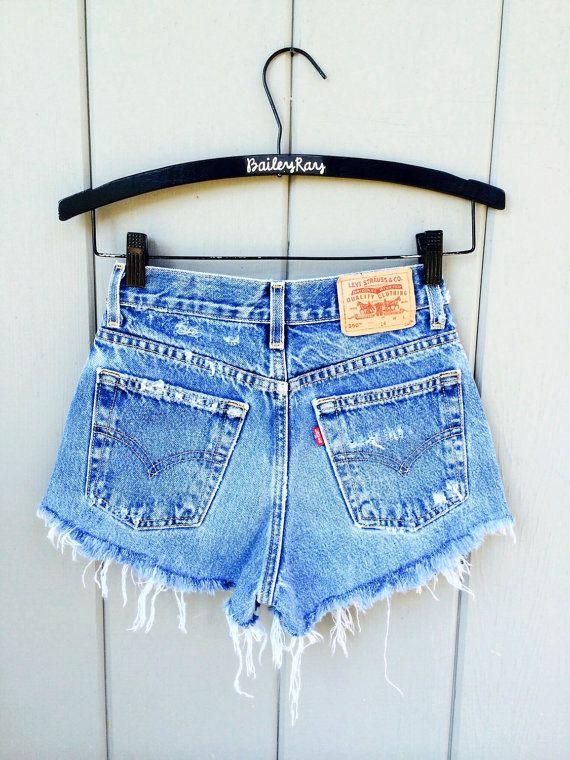 9de65bfd8d Levis Shorts - High Waisted Cutoffs Denim Cheeky - All Sizes xs ...
