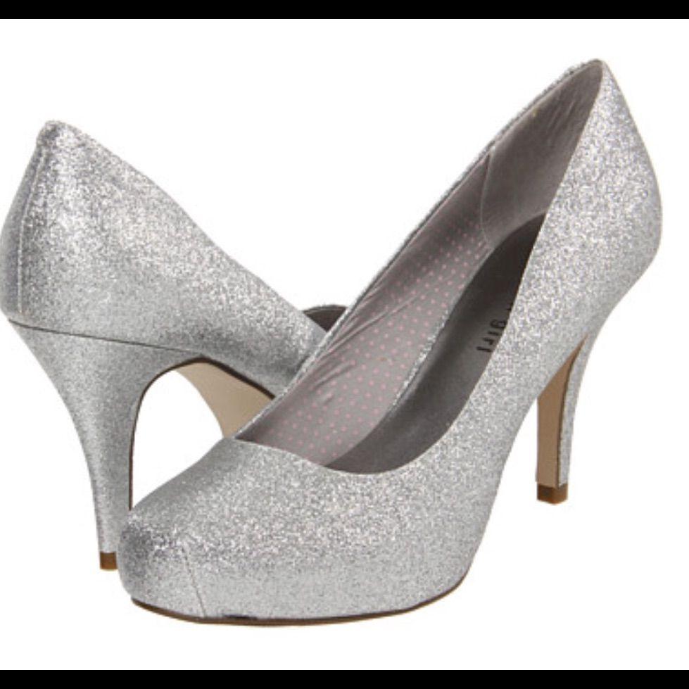 119fb199eac8 Madden Girl Silver Sparkle Heel | Glitter stuff | Sparkle heels ...