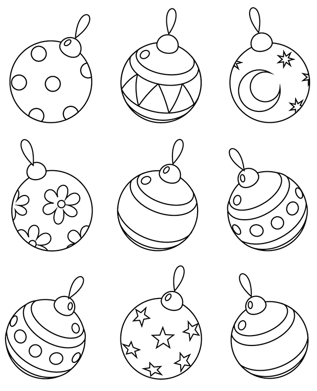 Des boules de Noël | Christmas ornament template, Christmas crafts