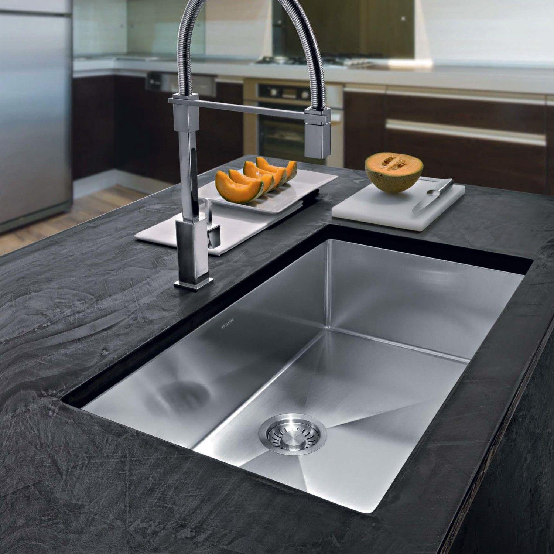 Planar 8 Single Bowl Undermount Kitchen Sink Contemporary Kitchen Sinks Modern Kitchen Sinks Kitchen Design