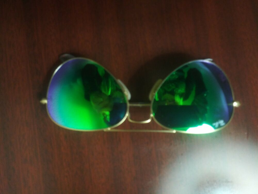 ba41a05664 Ray-Ban RB3025 112 P9 Aviator Gold Frame Polar Green Flash 58mm Lens  Sunglasses  fashion  clothing  shoes  accessories  unisexclothingshoesaccs  ...