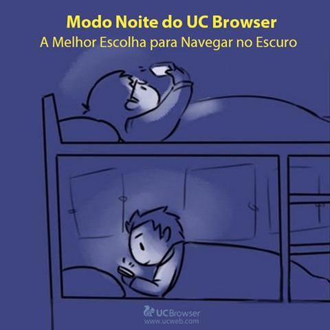 Gosta de navegar durante a noite, especialmente antes de dormir? Proteja sua visão e navegue de forma mais confortável, utilize o modo noite do UC Browser!