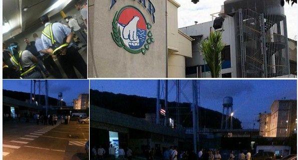 En horas de la noche de este miércoles funcionarios gubernamentales se presentaron en los galpones de La Yaguara, donde un cúmulo de empresas tienen sus ce