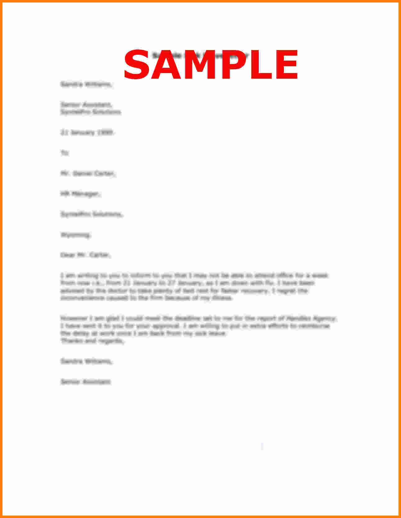 letter format personal sample reason leave letterg casual
