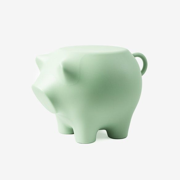 Sidepig in Pale Green Green, Thick body, Cleaning
