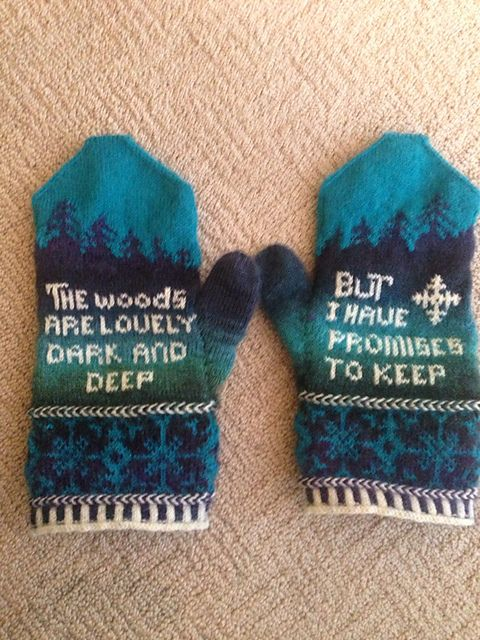 Ravelry: lauraknight's 18th Century Poetry Mittens : Robert Frost