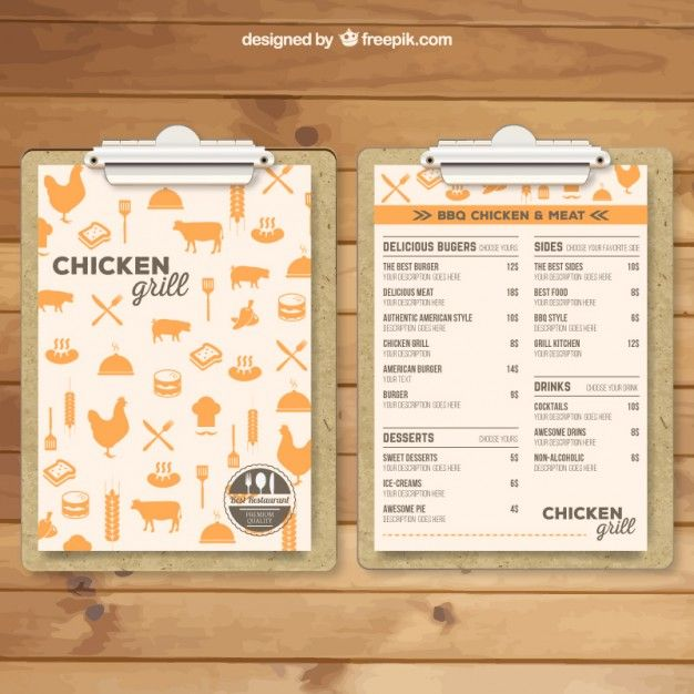 modèle de menu de Grill Menu, Menu book and Menu restaurant - dinner menu templates free