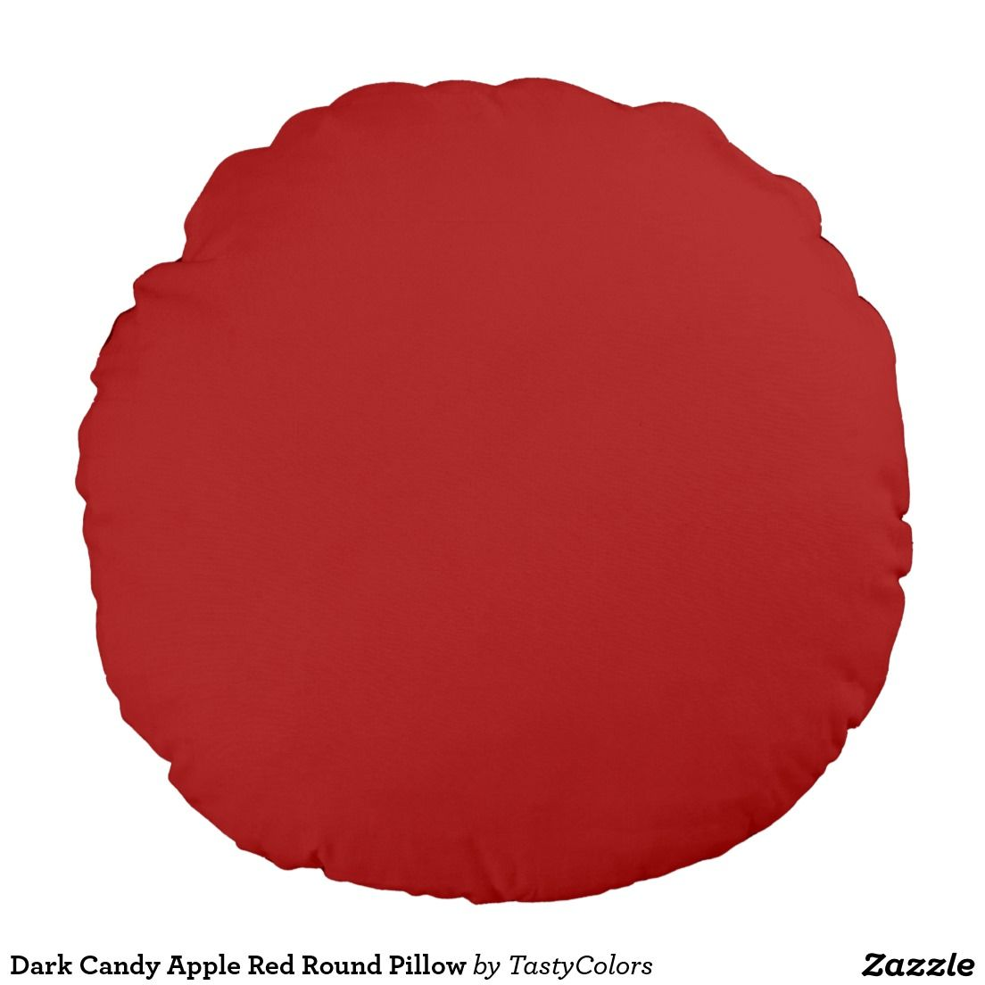 Dark Candy Apple Red Round Pillow