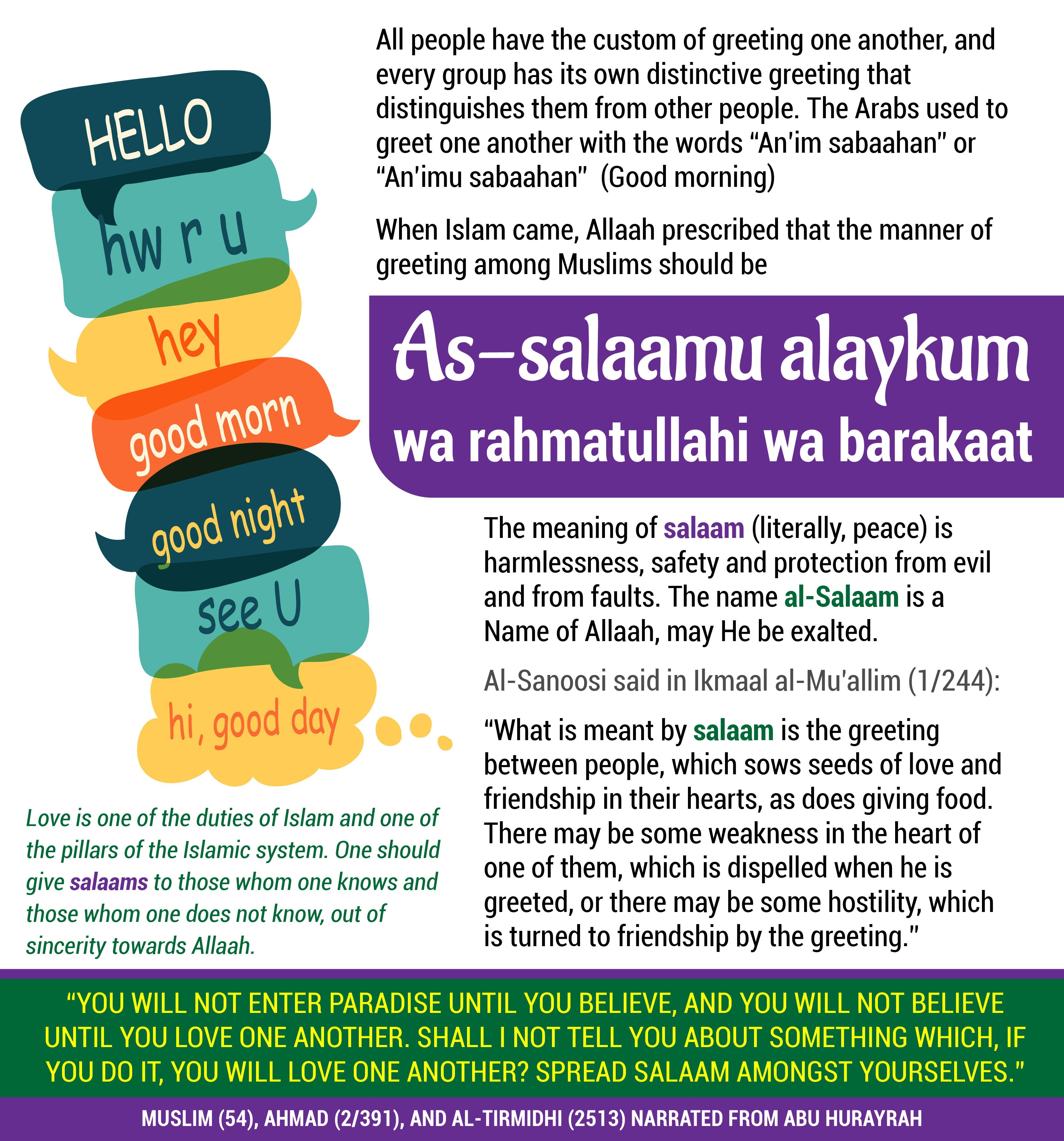 When Islam Came Allaah Prescribed That The Manner Of Greeting Among