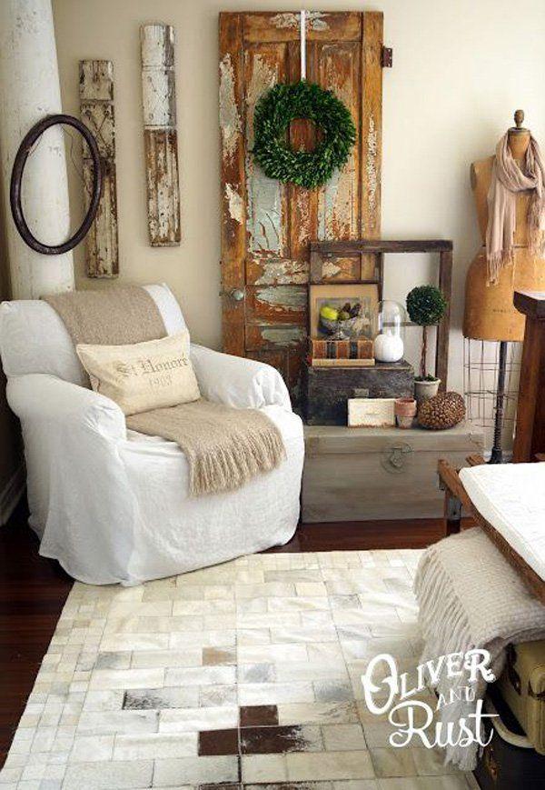 65 Living Room Decorating Ideas Old Door Decor Living Room Door