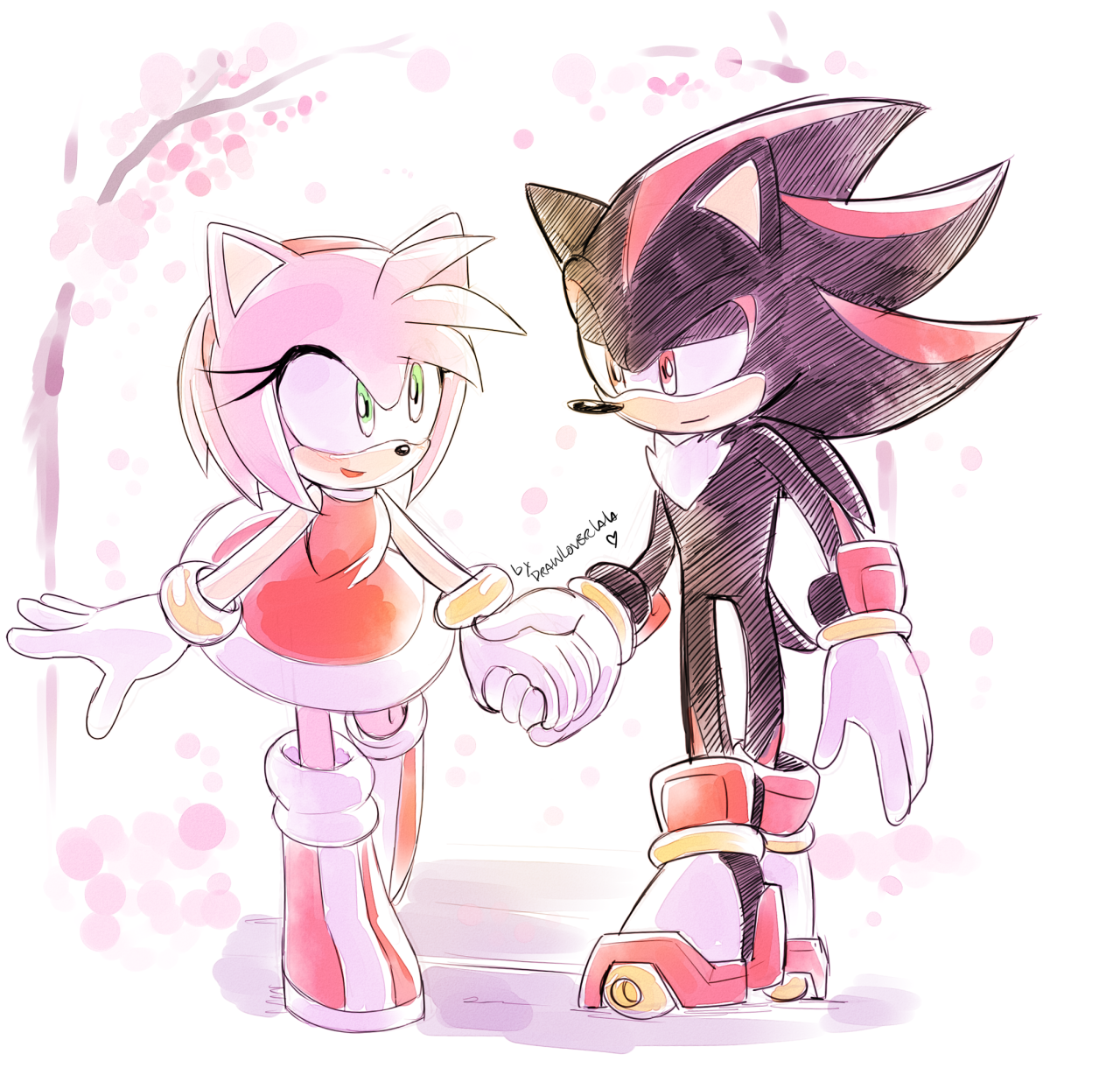 Tumblr Holding Rose Drawing Hands