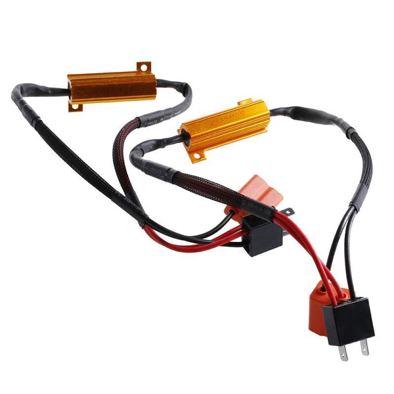 OOTDTY 2Pcs H7 50W 6Ohm LED DRL Fog Light Canbus Load Resistor ... on oxygen sensor extension harness, electrical harness, suspension harness, radio harness, pony harness, fall protection harness, cable harness, nakamichi harness, battery harness, engine harness, alpine stereo harness, amp bypass harness, maxi-seal harness, obd0 to obd1 conversion harness, safety harness, pet harness, swing harness, dog harness,