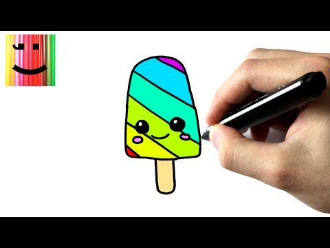 Comment Dessiner Une Glace Arc En Ciel Kawaii Youtube En