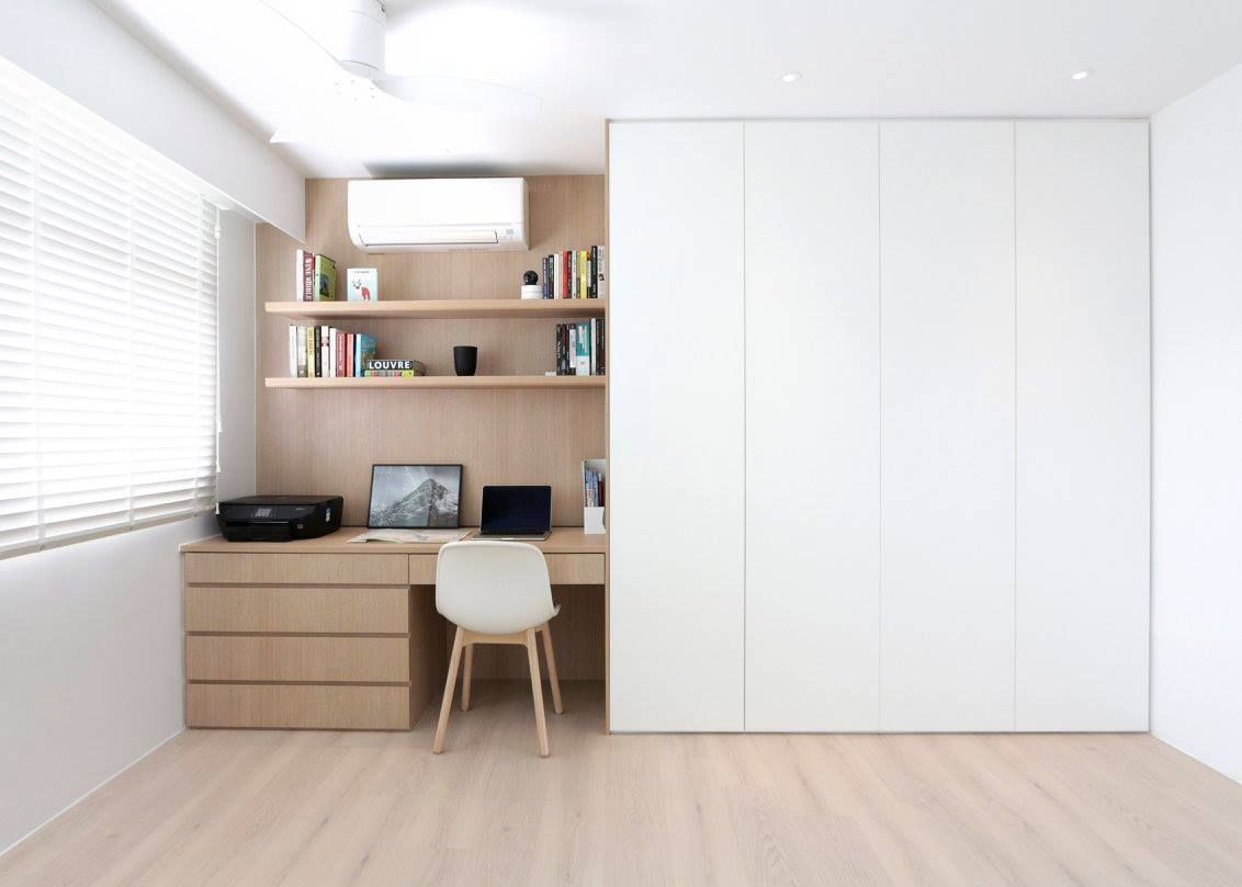 11 Seriously Stylish Singapore Homes With A White Black And Wood Colour Scheme Study Room Decor Home Study Room Design