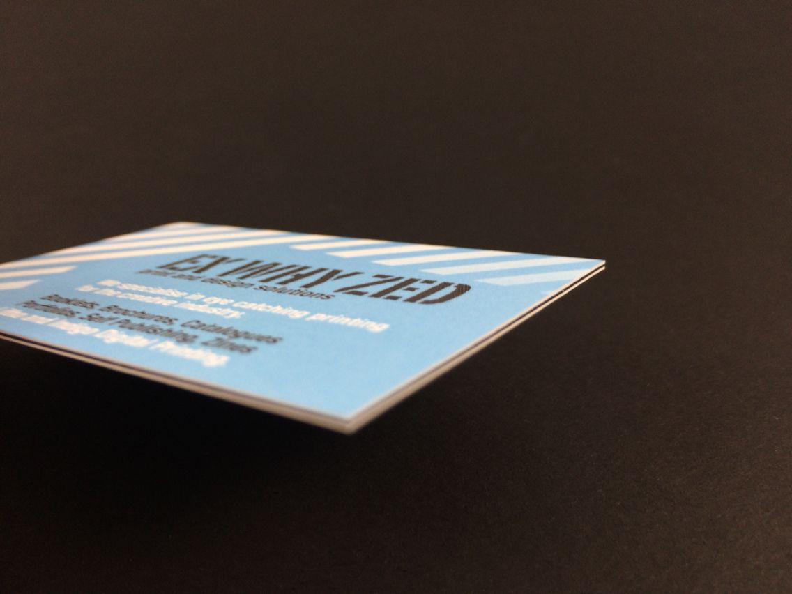 Our new luxury triple mounted business cards. Don't settle for poor quality cards to promote you and your company. www.exwhyzed.co.uk