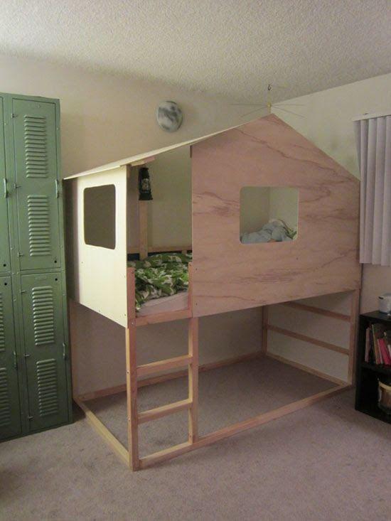 LouLou GaTou 15 façons de customiser votre lit KURA de IKEA - realiser un plan de maison